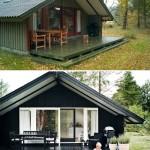 Det før lidt kedelige hus har fået nye farver og passer flot ind i naturskønne omgivelser.