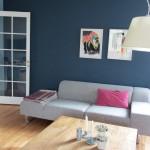 Her har kunden bl.a fået ny farve på den ene væg, som samler rummet. Ny indretning gjorde rummet rart at være i.