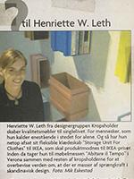 Spørgsmål til Henriette W. Leth
