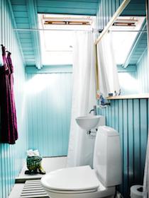 Turkisblå badeværelse, Henriette W. Leth, farvekonsulent